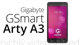 Gigabyte GSmart Arty A3 (rychlý videopohled)