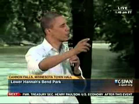 Obama dodges medical marijuana question in Minnesota |Raw Replay