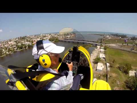 Flying my MTO SPORT Autogyro on floats to the Jamapa River in Veracruz. México.