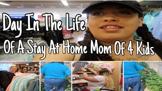 DITL OF A STAY AT HOME MOM OF 4 | SHOP WITH ME AND MY SIS | Gardening With My Grandma | Collab