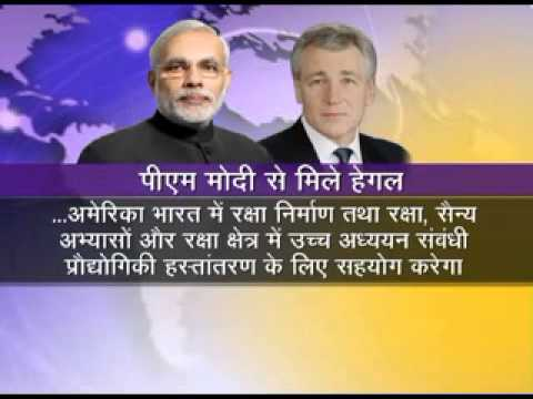 US Defence Secretary Hagel meets PM Narendra Modi