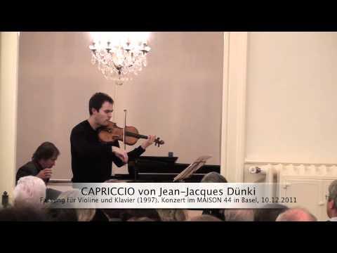 Capriccio für Violine und Klavier von Jean-Jacques Dünki
