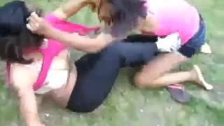 OH NO SHE DIDN'T! GHETTO GIRLS FIGHT UNTIL THEIR NAKED!