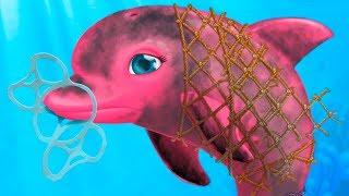 ДОКТОР КИД #8 Мультик игра про маленькую рыбку и морских животных. Готовлю и убираю в игре для детей