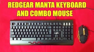 Redgear Manta MT21 Gaming Keyboard and Gaming Mouse Combo