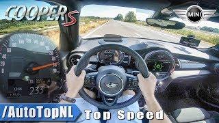 MINI COOPER S 2019 | 2.0 TURBO 192HP | 240km/h AUTOBAHN POV TOP SPEED by AutoTopNL