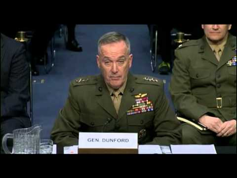 Gen. Dunford testifies before Senate Armed Services Committee