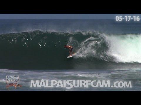 Surfing Costa Rica, www malpaisurfcam com 05 17 16 Santa Teresa Mal Pais