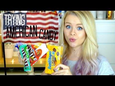 British Girl Trying AMERICAN CANDY! | sophdoesnails
