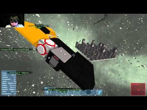 Space Engineers Space Workshop #24 Grammaton City Centre Destruction