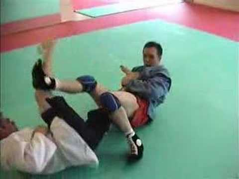 Sambo Technique - Half Guard Leg Locks Image 1