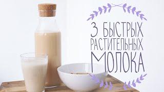 3 быстрых растительных молока - ореховое, банановое, конопляное | Веганский рецепт