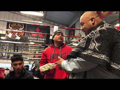 Frank the Cook visits Mikey Garcia at the gym To deliver a gift ( part 2 )