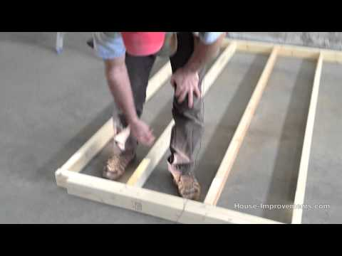 how to build wood wall