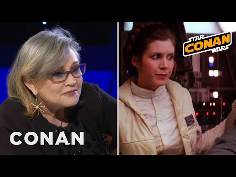 Carrie Fisher Partied All Night With The Rolling Stones  - CONAN on TBS