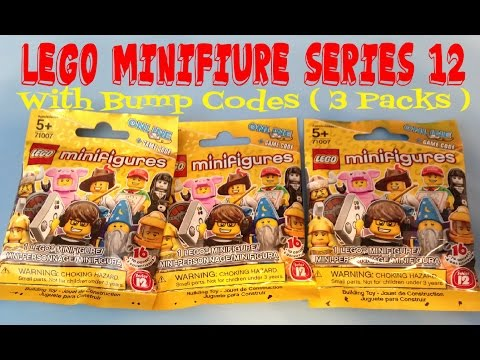 Lego Minifigures Series 12 With Bump Codes