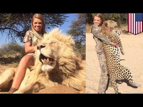 Фотографии охотницы из Техаса на фоне убитых африканских животных взбесили Фейсбук