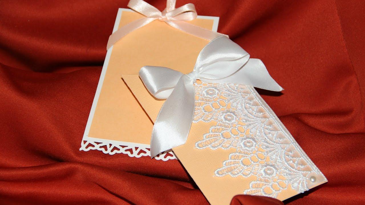 Из чего сделать приглашение на свадьбу своими руками 768