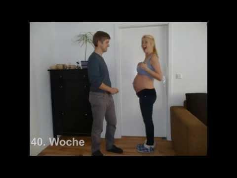 40 Weeks Of Pregnancy Timelapse // 40 Wochen Schwangerschaft Zeitraffer