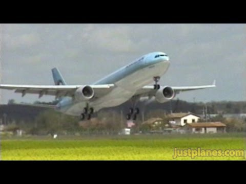 Korean Air A330 Go-Around!