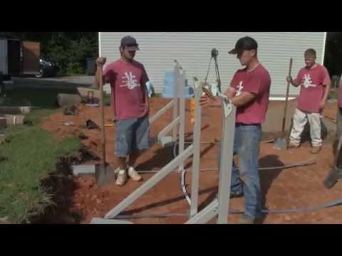 Oval Above Ground Pool Professional Installation Part 1