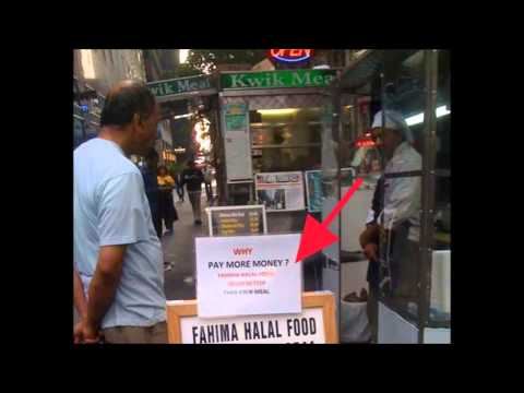 Boycott Islamic Halal Food Stands In New York
