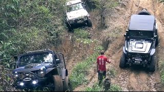 Modified Nissan Patrol, Jeep Wrangler and Land Rover defender offroading 4x4 Part 1