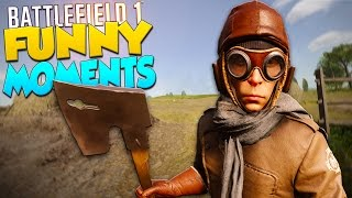 Battlefield 1 Funny Moments - Riding Planes, Horn Squad, Tiny Pistol!