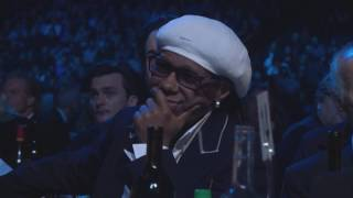 Pharrell Inducts Nile Rodgers Into The Rock Roll Hall Of Fame 2017