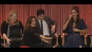 The Vampire Diaries PaleyFest 2014 Delena rain kiss