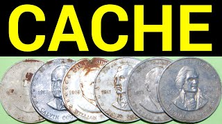 WE FOUND A COIN COLLECTION METAL DETECTING!! Cache or Dropped?