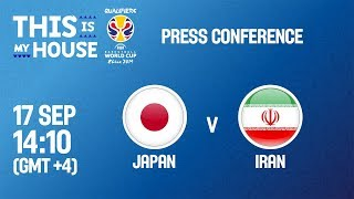 Japan v Iran - Press Conference - FIBA Basketball World Cup 2019 Asian Qualifiers