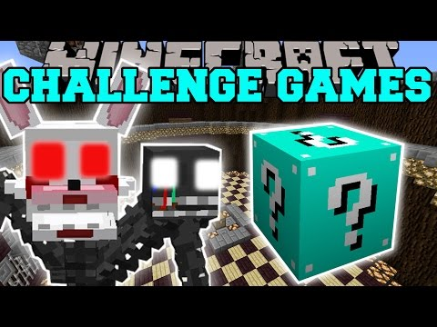 Popularmmos minecraft fnaf challenge games pat and jen lucky block mod