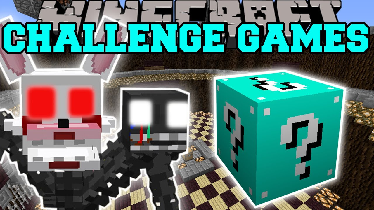 Pat and jen minecraft mangle challenge games lucky block mod