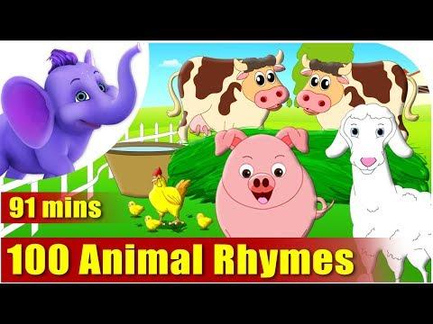 Top 100 Animal Rhymes in English