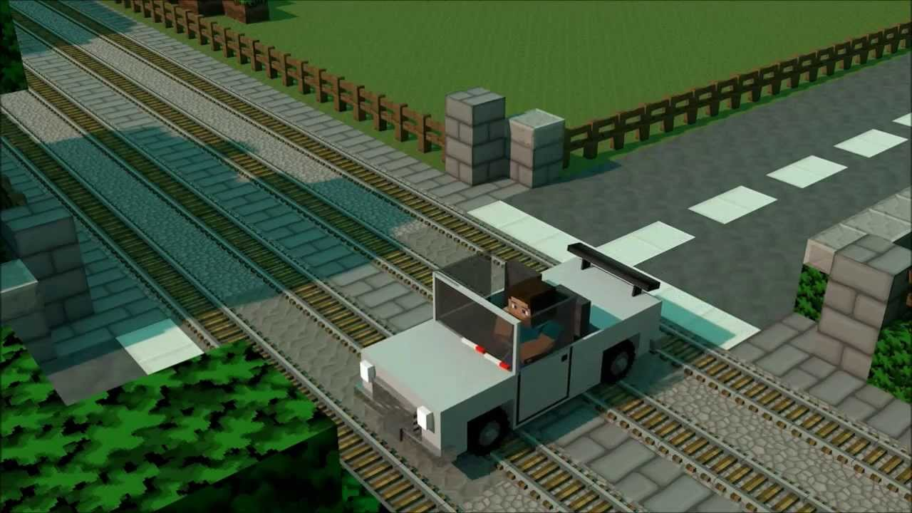 how to ride a train in minecraft