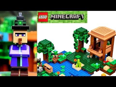 LEGO Minecraft 21133 Хижина ведьмы Обзор видео Лего Майнкрафт 2017