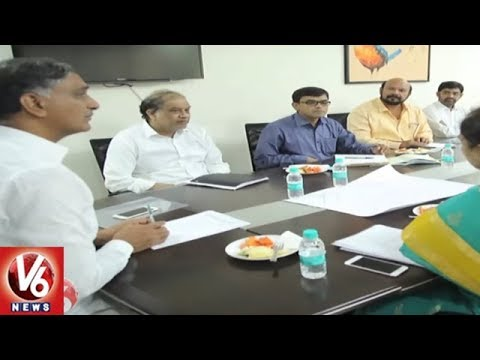 Minister Harish Rao Holds Review Meet On Alwal Rythu Bazar Modernization | Hyderabad | V6 News