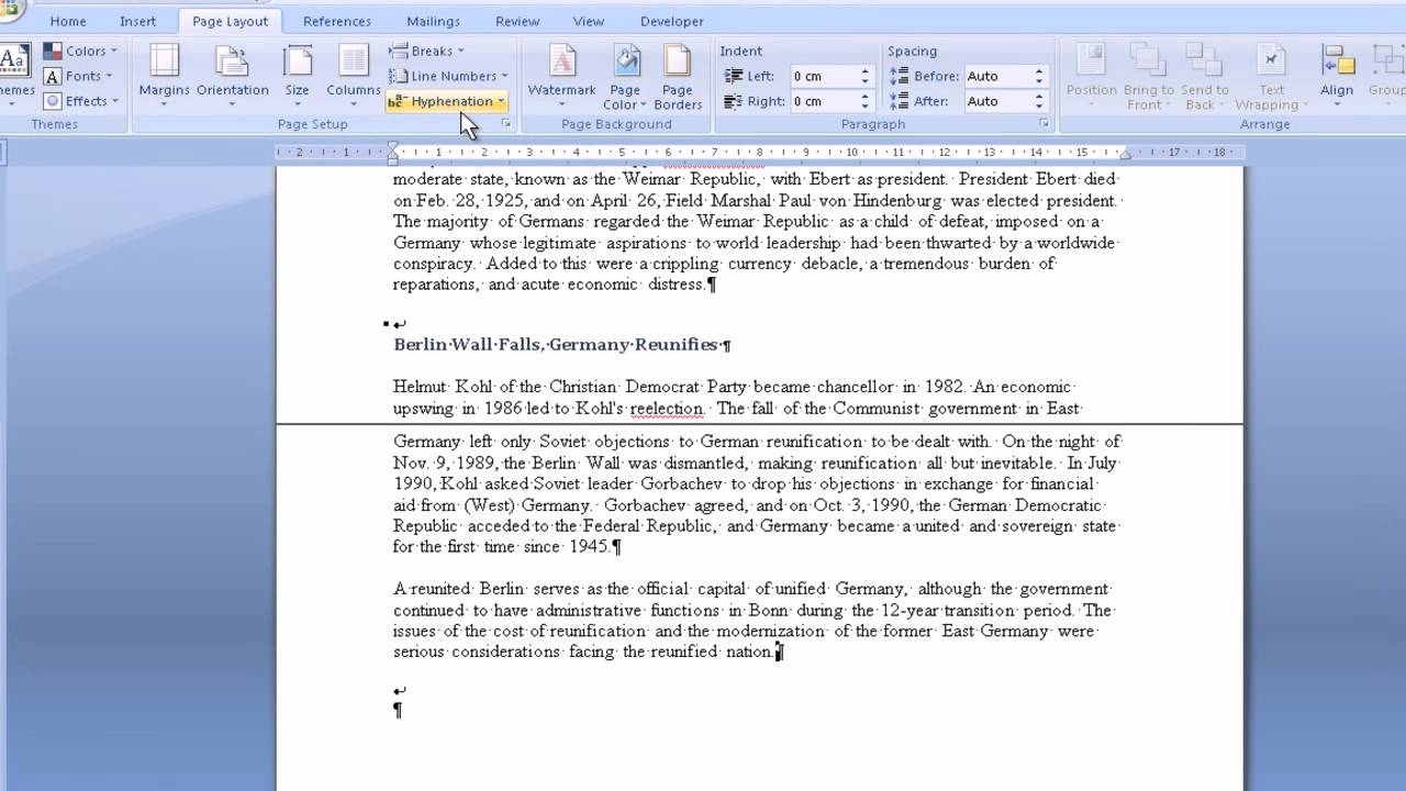 Microsoft Word 2007 Headers and Section Breaks - YouTube