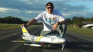 Freewing F-86 Sabre Jet 80mm with Killer Planes Supermax Crashproofing
