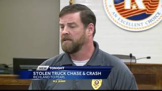 Stolen SUV leads to chase and crash