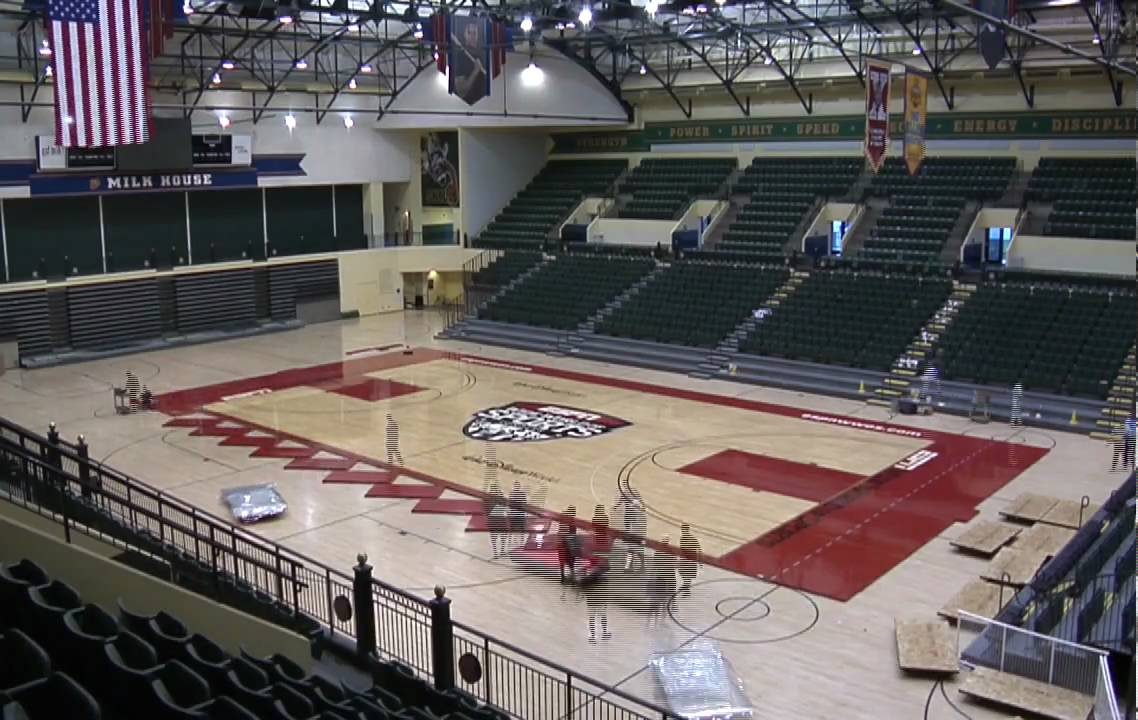 Espn wide world of sports basketball court time lapse for How wide is a basketball court
