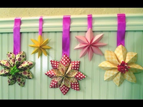How to fold a flower decoration, floral party decor, origami
