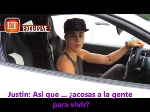 Justin Bieber detiene el tráfico y se enfrenta a Paparazzi en LA (TRADUCCIÓN ESPAÑOL) HD