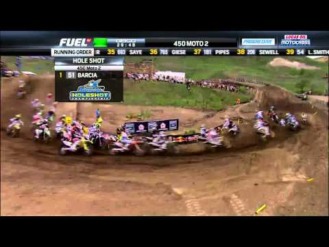 2013 Thunder Valley 450 Moto 2: Justin Barcia Takes the Motorcycle Superstore Holeshot