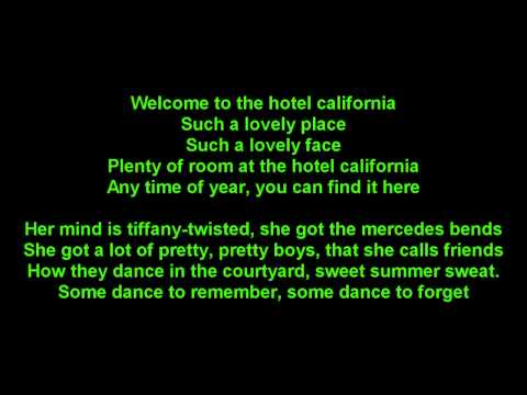 The Eagles - Hotel California -True-HD-onscreen Lyrics Music Videos