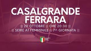 Serie A1 Femminile [7^]: Casalgrande - Ariosto Ferrara 30-33