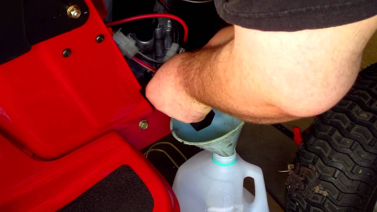 How To Change Oil On Troy Bilt Pony Mower