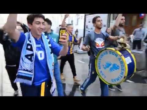 Argentina fans burns in Moscow. // Argentinos fans de mazo en moscú!!!