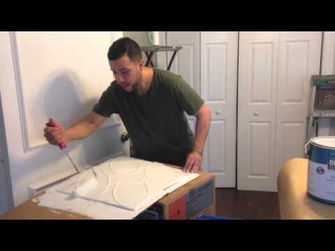 Como pintar paneles de poliestireno youtube - Como pintar techos ...